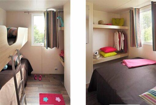 camping-biarritz- bidart-oyam chambre parents enfants - mobile home-Albista