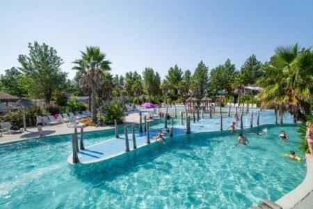 baignade piscine chauffée camping oyam bidart