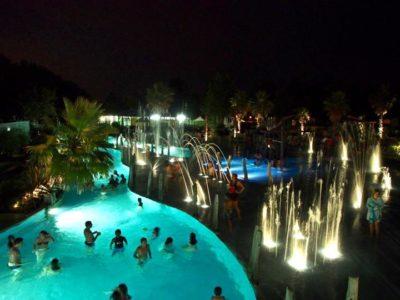 soirée piscine au camping oyam